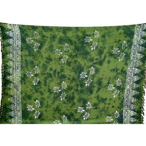 Sarong groen schildpad