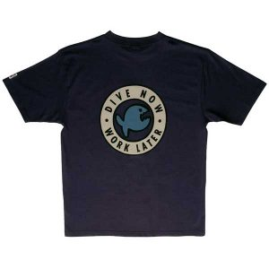 iQ T-shirt Dive Now Navy
