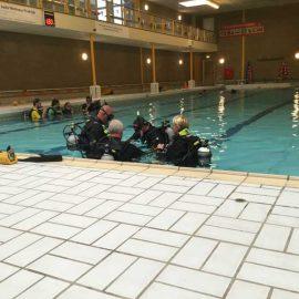 Duikles in het zwembad