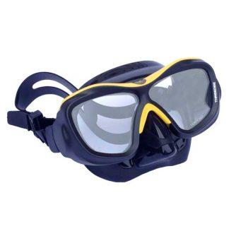 Poseidon 3D masker zwart/geel