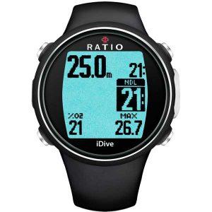 Ratio iDive Easy sport duikcomputer - Zwart
